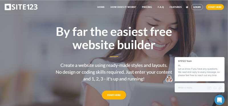 免費網站設計軟體-SITE123