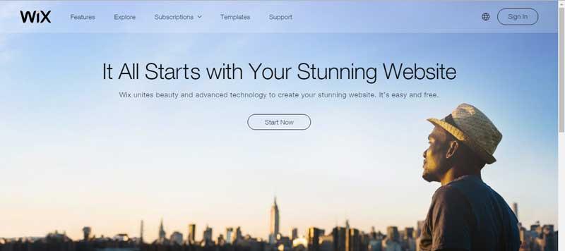 免費網站設計軟體-Wix