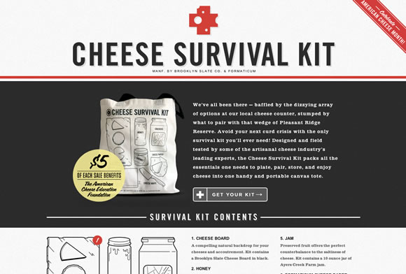 網站調色板-Cheese Survival Kit