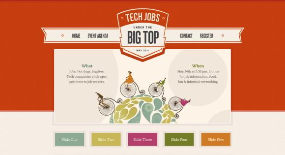 網站調色板-The Big Top