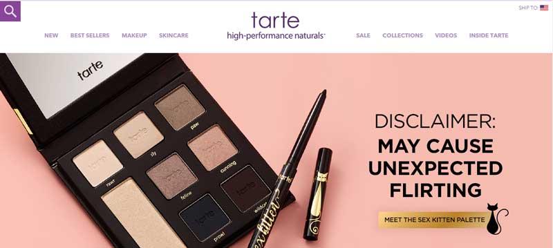 透過美容化妝網站找靈感-Tarte Cosmetics
