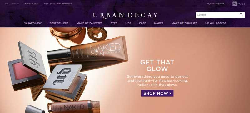 透過美容化妝網站找靈感-Urban Decay