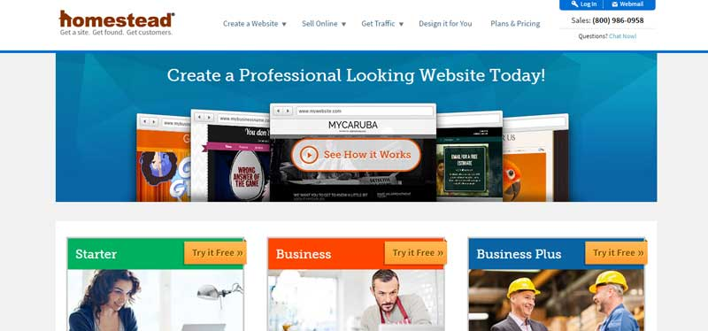 10大網站設計軟體-Homestead