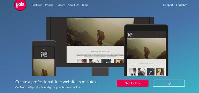10大網站設計軟體-Yola