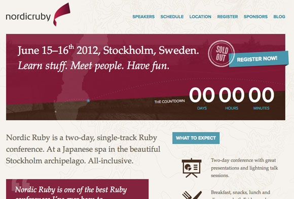 網站調色板-Nordic Ruby