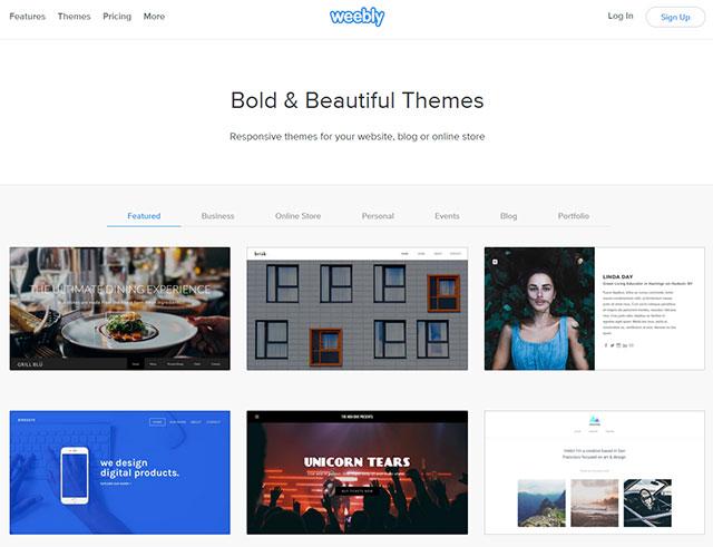 網頁設計軟體-Weebly模板