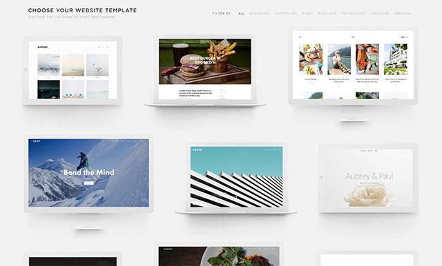 網頁設計軟體-squarespace模板