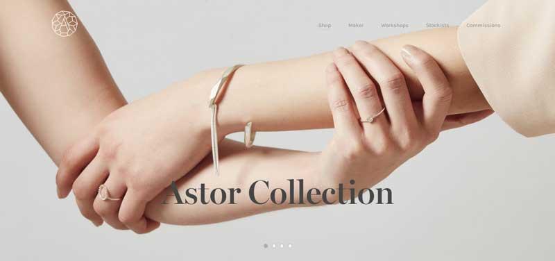 珠寶網站設計實例--Abby Seymour