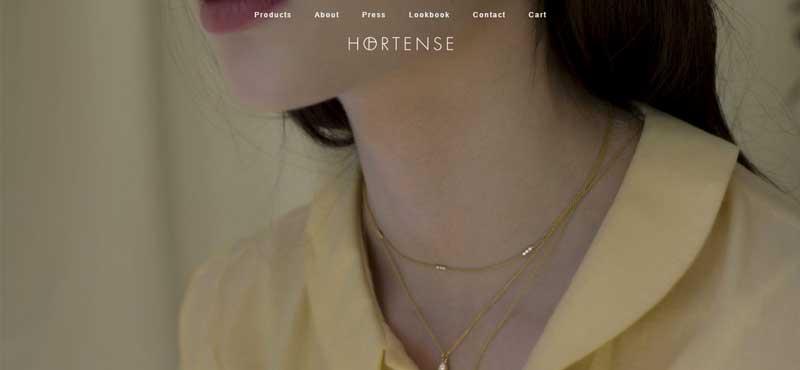 珠寶網站設計實例--Hortense