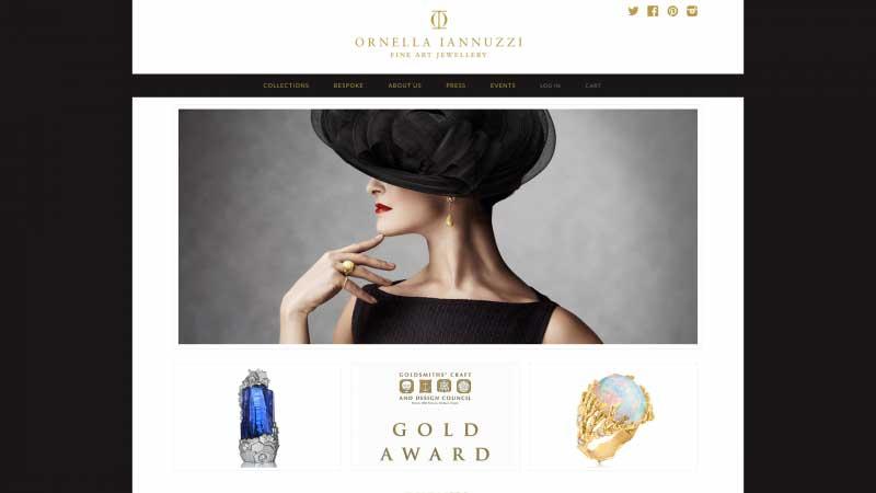 珠寶網站設計實例--Ornella Iannuzzi