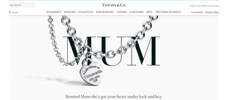 珠寶網站設計實例--Tiffany & Co.珠寶網站設計實例--Tiffany & Co.