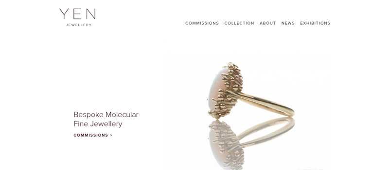珠寶網站設計實例--Yen Jewellery