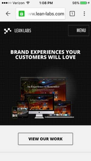 移動網站設計範例--lean-labs-mobile