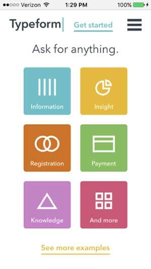 移動網站設計範例--typeform-mobile-2