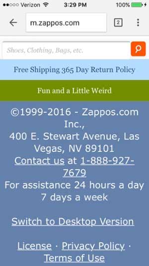 移動網站設計範例--zappos-mobile-2